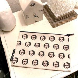 Out of Print Edgar Allan Poe-ka Dots pouch